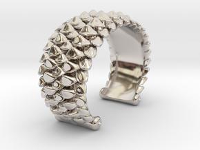 scale 2017 cuff medium precious metal model 10-27- in Rhodium Plated Brass