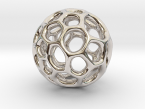 Gaia-40 (from $12) in Rhodium Plated Brass