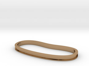 Trench Palm Cuff in Polished Brass: Extra Small