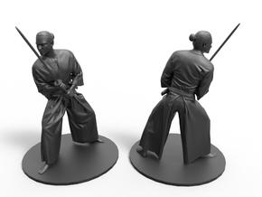 samurai katana warrior in Smooth Fine Detail Plastic