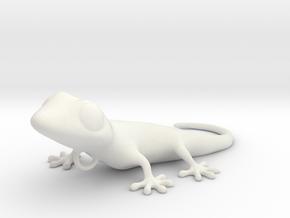 GECKO pendant 4cm length in White Natural Versatile Plastic