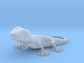 GECKO Pendant, 4cm length in Smooth Fine Detail Plastic