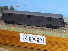 GWR Parcels Car #34 - Z - 1:220 in Smooth Fine Detail Plastic