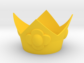 Flower Princess Crown in Yellow Processed Versatile Plastic
