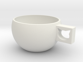 CatCup in White Natural Versatile Plastic: Medium
