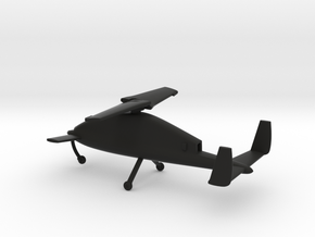 Boeing X-50 Dragonfly in Black Natural Versatile Plastic: 1:100