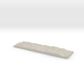 Model of Køyta in Natural Sandstone