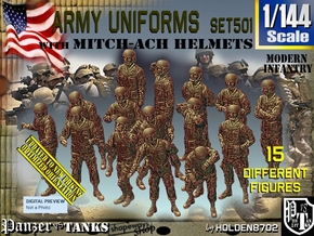 1/144 Mod Unif MICH Set501 in Smooth Fine Detail Plastic