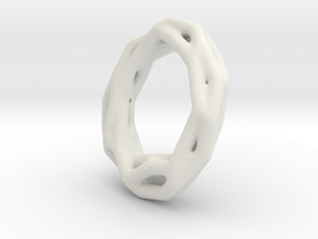 Twig Bracelet in White Natural Versatile Plastic