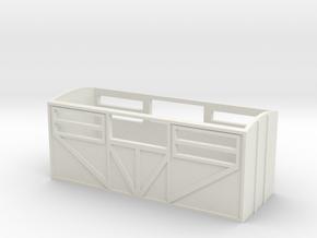 OO9 Sheep Van in White Natural Versatile Plastic