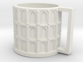 Colloseum Cup in White Natural Versatile Plastic: Medium