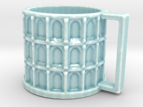 Colloseum Cup in Gloss Celadon Green Porcelain: Medium