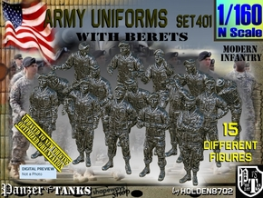 1/160 Modern Uniforms Set401 in Smooth Fine Detail Plastic