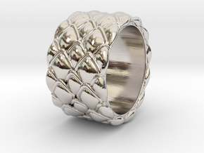 Dragon Scales 18.6 mm in Rhodium Plated Brass