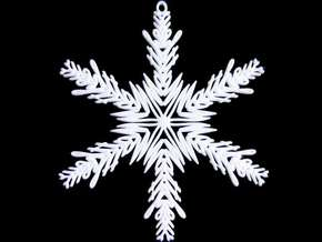 Matthew snowflake ornament in White Natural Versatile Plastic