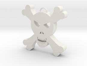 Skull Decoration in White Natural Versatile Plastic