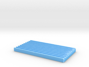 Simple soap dish in Gloss Blue Porcelain