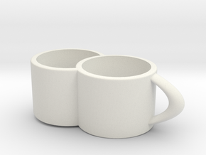 2joinCup B in White Natural Versatile Plastic: Medium
