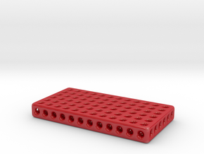 Designer 3D soap dish in Gloss Red Porcelain