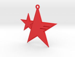 Sonic Forces - Resistance Star Pendant in Red Processed Versatile Plastic