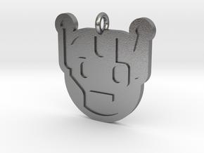 Killbot Pendant in Natural Silver