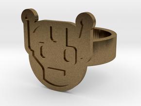 Killbot Ring in Natural Bronze: 8 / 56.75