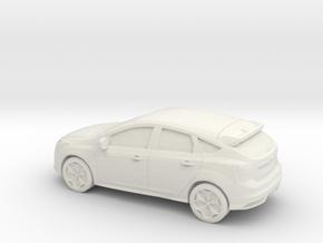 1/76 2012 Ford Focus in White Natural Versatile Plastic
