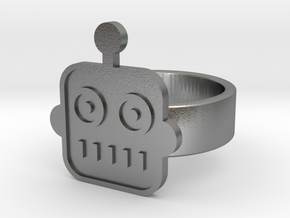 Robot Ring in Natural Silver: 8 / 56.75