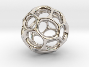 Gaia-25-deep (from $19.90) in Rhodium Plated Brass