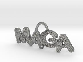 MAGA Texture Horizontal Pendant in Natural Silver