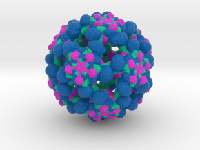 Coxsackievirus Virus-Like Particle in Full Color Sandstone