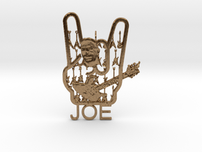 Heavy Joe Pendant in Natural Brass
