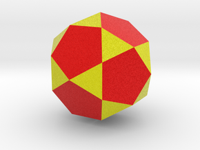 Icosidodecahedron in Full Color Sandstone