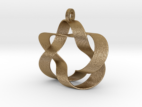 Mobius III (Downloadable) in Polished Gold Steel