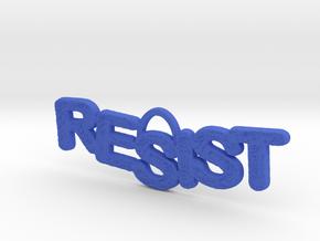 RESIST Pendant in Blue Processed Versatile Plastic
