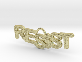 RESIST Pendant in 18k Gold Plated Brass