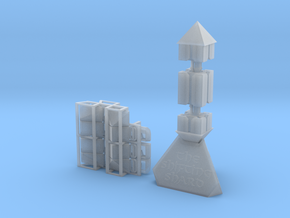 The Shifting Shard with Stand in Smooth Fine Detail Plastic