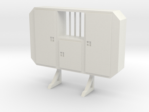 1:50 Cabinet headache rack with window in White Strong & Flexible