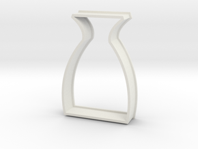 Sake Bottle Cookie Cutter in White Natural Versatile Plastic