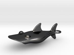 Little Shark Bottle Opener in Polished and Bronzed Black Steel