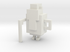 Crossy Road - Crazy Ol' Ben model in White Natural Versatile Plastic