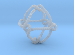 Octahedral knot (Rope with detail) in Smooth Fine Detail Plastic: Medium