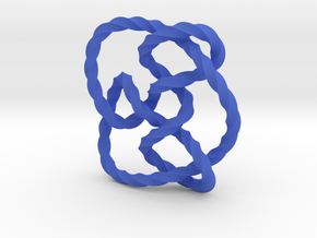Knot 8₁₅ (Twisted square) in Blue Processed Versatile Plastic: Extra Small