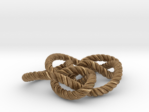 Knot 8₁₅ (Rope with detail) in Natural Brass: Large