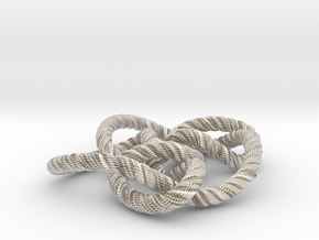 Knot 8₁₅ (Rope with detail) in Platinum: Large
