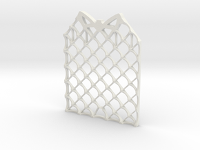 Grid Fin Coaster in White Natural Versatile Plastic
