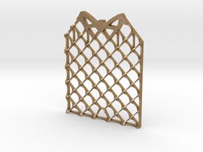 Grid Fin Coaster in Matte Gold Steel