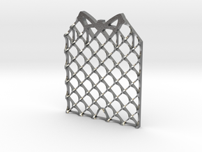 Grid Fin Coaster in Natural Silver