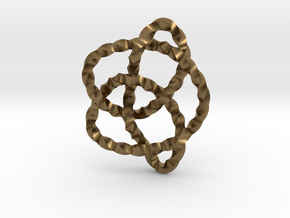 Knot 8₁₆ (Twisted square) in Natural Bronze: Extra Small