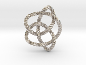 Knot 8₁₆ (Rope with detail) in Platinum: Large
